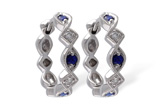 A028-63822: EARRINGS .20 SAPP .25 TGW