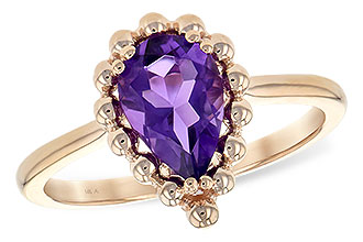 A216-85704: LDS RING 1.06 CT AMETHYST