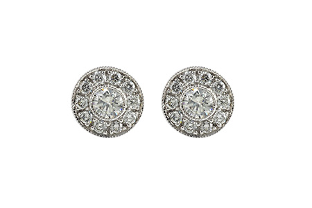 D027-81140: EARRINGS 1 CT TW