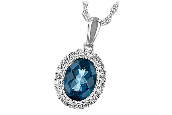 D216-82922: NECK 1.28 LONDON BLUE TOPAZ 1.41 TGW
