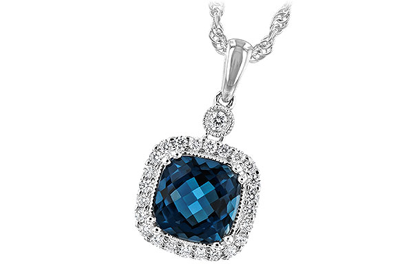 F216-82913: NECK 1.63 LONDON BLUE TOPAZ 1.80 TGW