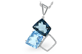 H215-97485: NECK 10.60 BLUE TOPAZ 10.73 TGW