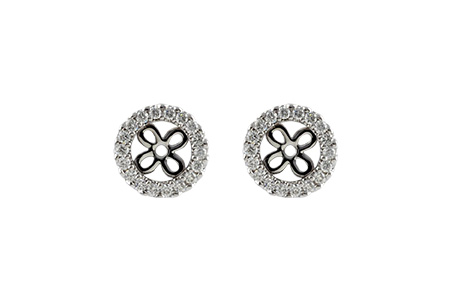 K215-03831: EARRING JACKETS .24 TW (FOR 0.75-1.00 CT TW STUDS)