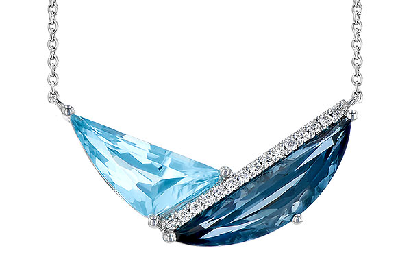 M300-48421: NECK 4.66 BLUE TOPAZ 4.75 TGW